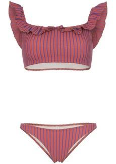 Solid & Striped paloma striped ruffle bikini