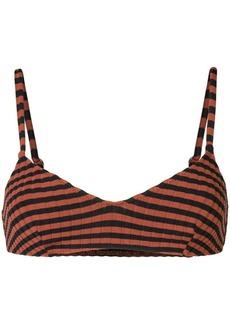 Solid & Striped ribbed bikini top