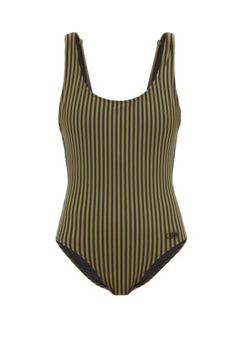 Solid & Striped Anne-Marie striped scoop-neck swimsuit