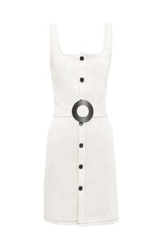 Solid & Striped Belted button-front denim mini dress