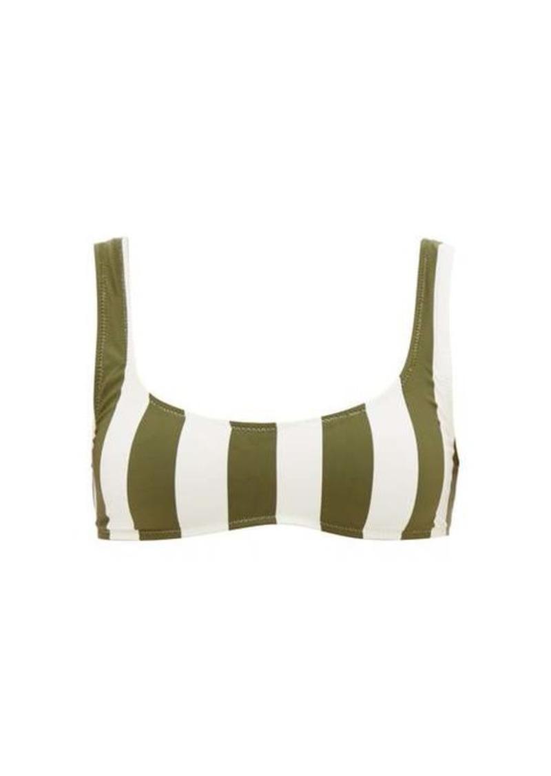 Solid & Striped Elle scoop-neck striped bikini top