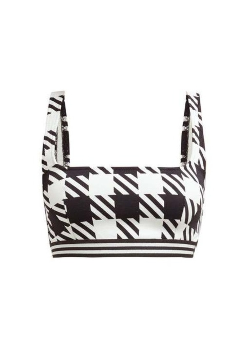 Solid & Striped The Kayla gingham-patterned bikini top