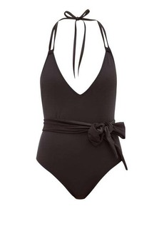Solid & Striped The Lou shimmer-sash swimsuit