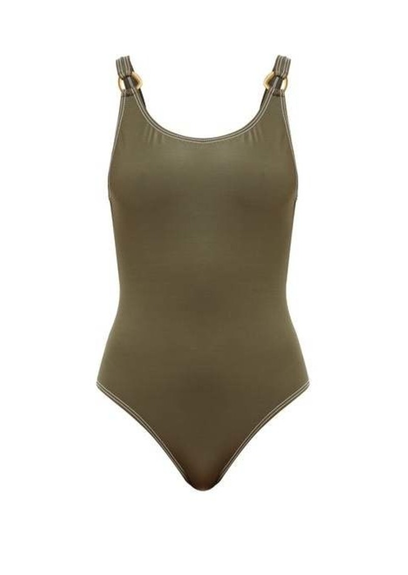 Solid & Striped The Stella shimmer-jersey swimsuit