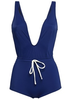 Solid & Striped Woman The Edie Bow-detailed Swimsuit Navy