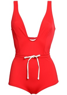 Solid & Striped Woman The Edie Bow-detailed Swimsuit Red