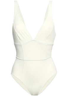 Solid & Striped Woman Paneled Swimsuit Cream