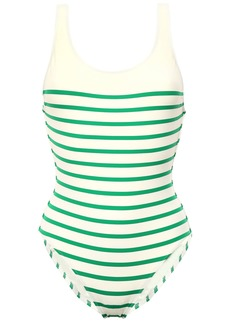 Solid & Striped Woman The Anne Marie Striped Swimsuit Cream