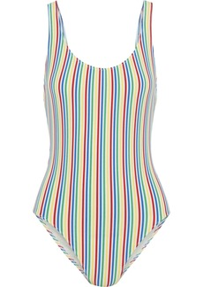 Solid & Striped Woman The Anne Marie Striped Seersucker Swimsuit Multicolor