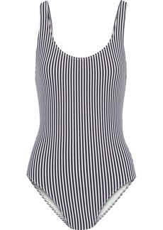 Solid & Striped Woman The Anne-marie Striped Seersucker Swimsuit Navy
