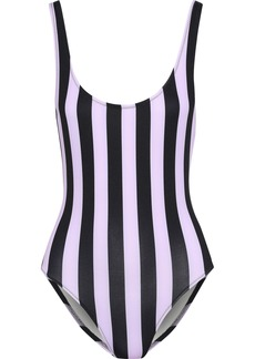 Solid & Striped Woman The Anne-marie Striped Swimsuit Lavender