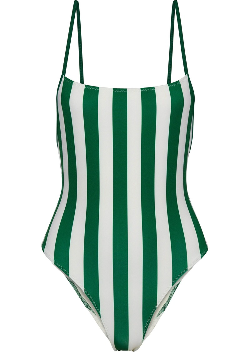Solid & Striped Woman The Chelsea Striped Swimsuit Emerald