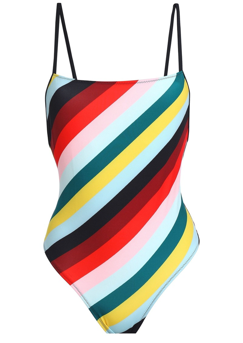 Solid & Striped Woman The Chelsea Striped Swimsuit Mint