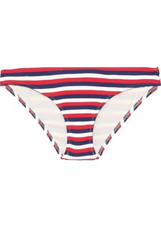 Solid & Striped Woman The Elle Striped Ribbed Low-rise Bikini Briefs Red