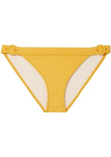 Solid & Striped Woman The Evelyn Buckle-detailed Low-rise Bikini Briefs Marigold