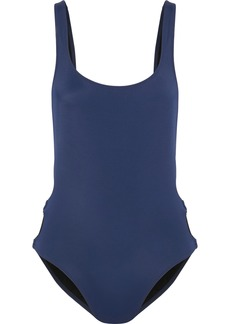 Solid & Striped Woman The Jennifer Ring-embellished Swimsuit Navy