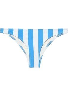 Solid & Striped Woman The Rachel Striped Low-rise Bikini Briefs Light Blue