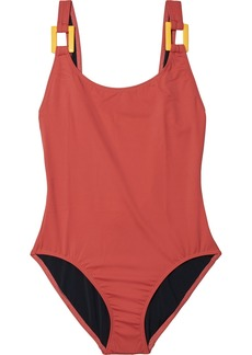 Solid & Striped Woman The Stella Embellished Swimsuit Brick