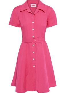 Solid & Striped Woman Tourist Belted Linen-blend Shirt Dress Fuchsia