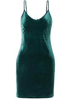 Solid & Striped Woman Velvet Mini Dress Emerald