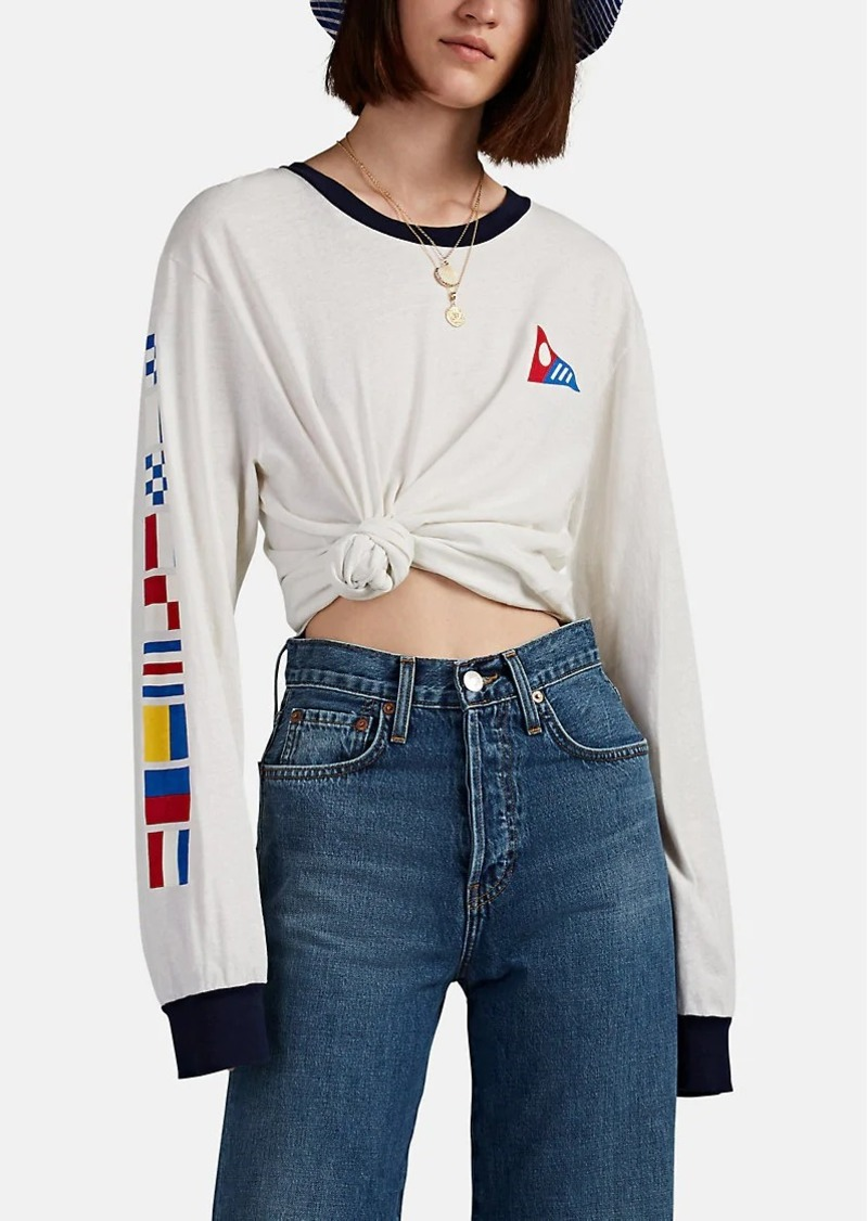 Solid & Striped x RE/DONE Women's Flag-Print Oversized Long-Sleeve T-Shirt