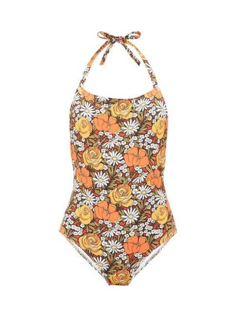 Solid & Striped X Re/Done Woodstock floral-print swimsuit