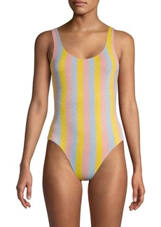 Solid & Striped Striped One-Piece Maui Swimsuit