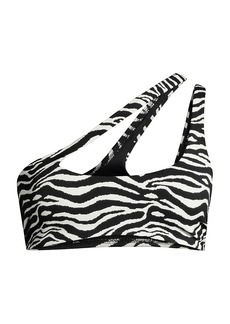 Solid & Striped The Brody Zebra Print Bikini Top