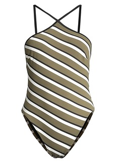 Solid & Striped The Sandra Striped One-Piece Swimsuit