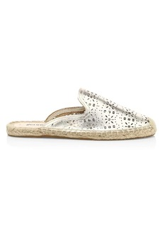Soludos Ami Perforated Leather Espadrille Mules