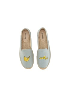 Soludos Banana Embroidered Platform Smoking Slipper