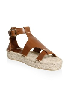 Soludos Banded Shield Leather Espadrilles