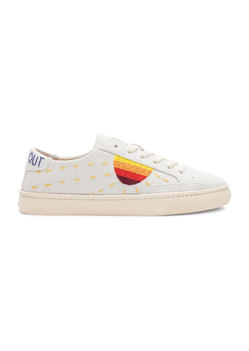 34c00ea13 Embroidered Sun Sneaker