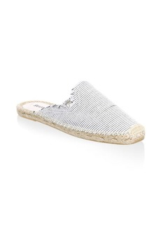 Soludos Frayed Canvas Mules