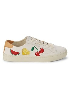 Soludos Fruit Salad Low-Top Leather Sneakers