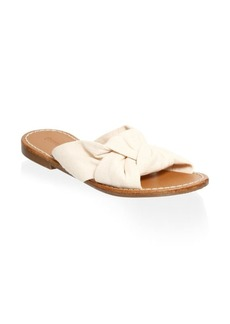 Soludos Knotted Strap Slides