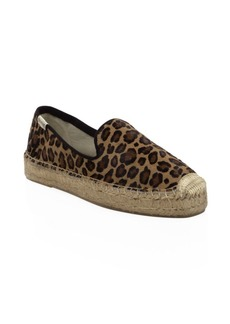 Soludos Leopard Print Calf Hair Espadrille Loafers