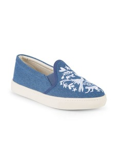 Soludos Otomoi Flora Denim Slip-On Sneakers