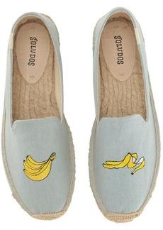 Soludos Banana Embroidered Platform Smoking Slipper