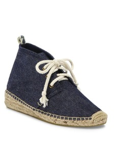 Soludos Demi-Wedge Canvas Espadrille Desert Booties