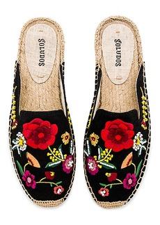 Soludos Embellished Floral Mule