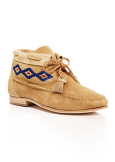 Soludos Embroidered Moccasin Booties