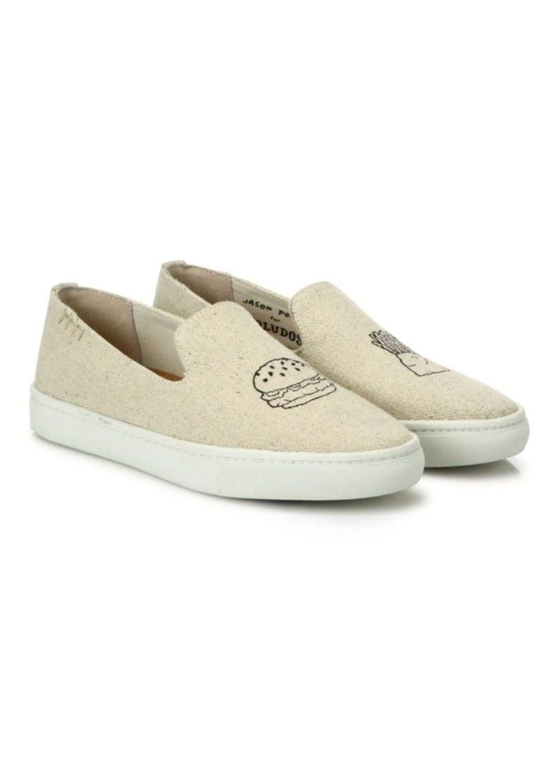 Soludos Fast Food Linen Skate Sneakers
