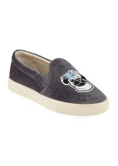Soludos Flower Pug Velvet Slip-On Sneakers