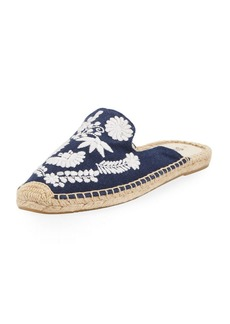 Soludos Ibiza Embroidered Canvas Mule