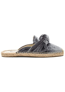 Soludos Knotted Velvet Mules in Gray. - size 10 (also in 6,6.5,7,7.5,8,8.5,9,9.5)