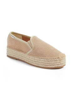 Soludos Malibu Perforated Platform Espadrille (Women)