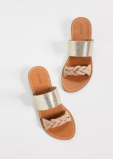 Soludos Metallic Braided Slide Sandals