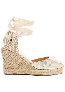 Soludos Metallic Tall Wedge in Metallic Gold. - size 10 (also in 6,6.5,7,7.5,8,8.5,9,9.5)