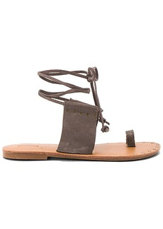 Soludos Milos Sandal in Charcoal. - size 10 (also in 6.5,7,7.5,8.5,9.5)